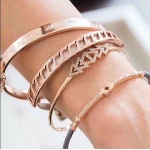 Stella & Dot Rose Gold Leather Bracelet